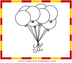 balloon coloring pages printable to motivate to color an images