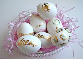 metallic easter eggs craft fancy tats easter eggs me my big ideas