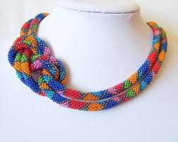 colored bead necklace images Colorful bead crochet jewelry by lutita the beading gem 39 s journal jpg