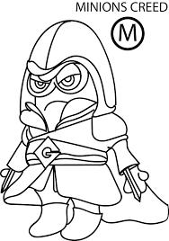 despicable minion creed coloring wecoloringpage