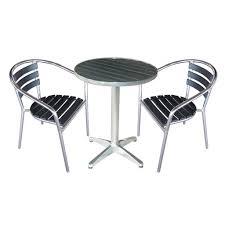 Aluminium Bistro Chairs Aluminium U0026 Polywood Table U0026 Chairs Available Separately