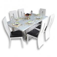 Gloss Dining Tables White 6 Seater High Gloss Dining Table Set Woodys