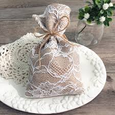 lace favor bags vintage lace wedding favor bag burlap linen bridal shower sachet