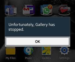 android phone stopped unfortunately gallery has stopped error keeps popping up on