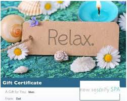 spa gift cards ideas spa gift ideas new serenity spa