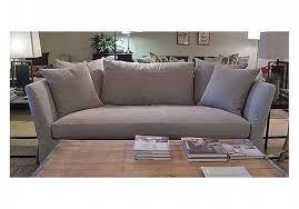 seda 84 u201d slipcovered sofa in prairie oatmeal w feather cloud