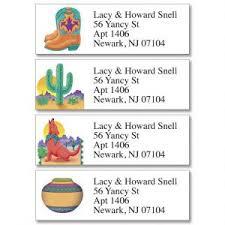 southwestern designs southwest address labels colorful images