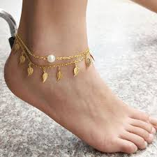 gold ankle bracelet chains images 1pc sexy simple gold anklet ankle bracelet leaf foot chain jpg