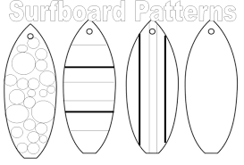 Stylish Design Surfboard Coloring Page Pages Online Coloring Pages Surfboard Coloring Page