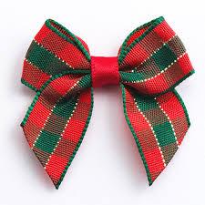 tartan ribbon 12 green tartan ribbon bows self adhesive ribbon bows at