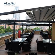 Pergola Awning Retractable by China Double Sided Aluminum Retractable Pergola Awning System