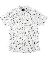 dark floral printed short sleeve shirt rvca