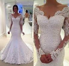 cheap bridal dresses lacy tight fitting wedding dress with sleeves anniversary