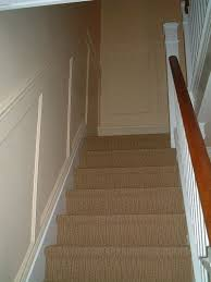 Recessed Handrail Recessed Paneled Wainscot Stair Application I Elite Trimworks