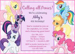 Mlp Birthday Card Create My Little Pony Birthday Party Invitations Free