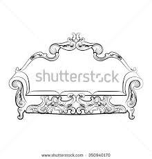 royal sofa classic damask ornaments vector stock vector 362221682