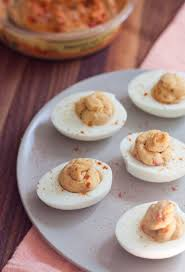 2 ingredient hummus deviled eggs bird food