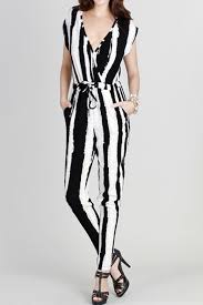 black and white jumpsuit black white vertical stripe jumpsuit