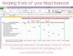 excel spreadsheet for business expenses with keep on track