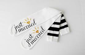 honey moon gifts just married socks knee high wedding socks