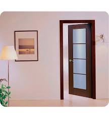 wenge frosted center glass wood aries ag103 interior door in a wenge finish with frosted glass