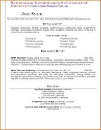 Free Dental Assistant Resume Templates 11 Dental Assistant Resume Sample Easy Samples Inside Template For
