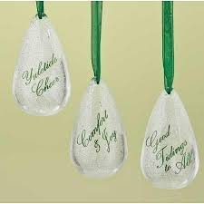 buy 12 tidings pearlescent glass teardrop ornaments