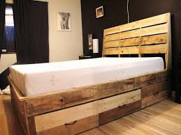 wood bed frame with drawers reclaimed wood bed frame drawers bed and shower affordable