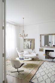 white interior with hints of spring and summer in london