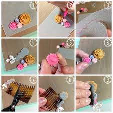 how to make diy flower combs hair accessories diy tag