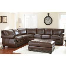 steve silver henry sectional sofa with optional ottoman antique