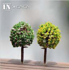 artificial tree 5pcs mini artificial trees crafts micro fairy garden figurine