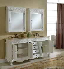 White Double Sink Bathroom Vanities by 72
