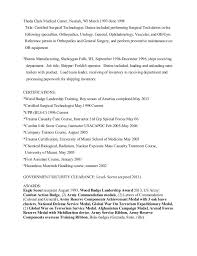 Surgical Tech Resume Sample by Radiologic Technologist Resume Contegri Com