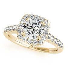 gold square rings images Square halo round diamond engagement ring 18k yellow gold 1 38ct jpg