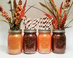 Jar Thanksgiving Rustic Fall Decor Fall Jar Jars