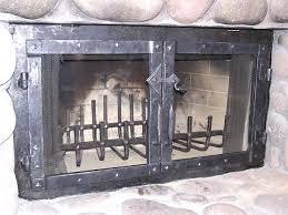 cast iron fireplace doors cleanout door outdoor