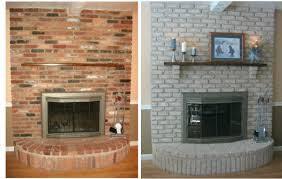 fireplace decorating why paint a brick fireplace