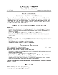 exles of a professional resume professional sales resume exles sle resume for sales