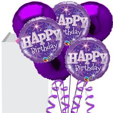 helium balloon delivery purple happy birthday bouquet buy helium balloons delivery