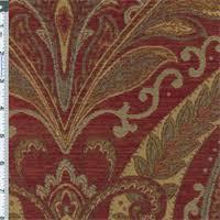 Red Drapery Fabric Paisley Drapery Fabric Discount Fabrics