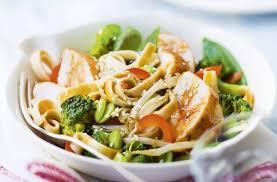 plat cuisiné picard emincés de poulet tagliatelles complètes et légumes façon wok de