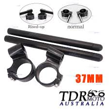 37mm cnc clip ons handle bars handlebar for honda kawasaki ninja