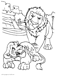 lions coloring page from cartoon