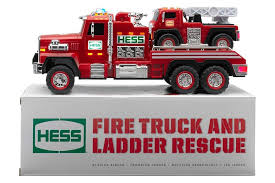 Fire Trucks Decorated For Christmas Amazon Com 2015 51st Hess Collectible Toy Fire Truck U0026 Ladder