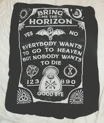 metal band sweaters shirt bring me the horizon black black and white