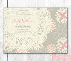 vintage bridal shower invitations items similar to burlap lace vintage bridal shower invitation