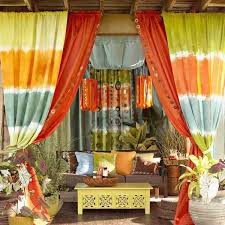 Bright Orange Curtains Outdoor Curtains For Porch And Patio Designs 22 Summer Decorating