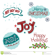and winter greetings text words stock