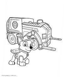 coloring coloring paw patrol pages drawing skye from